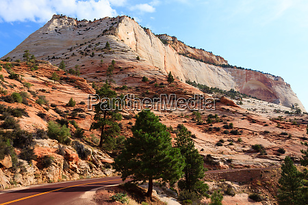 panorama from zion national park
