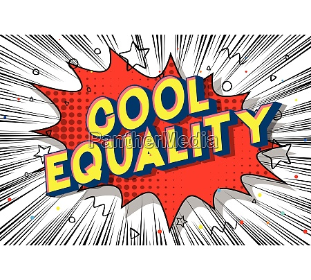 cool equality comic book style