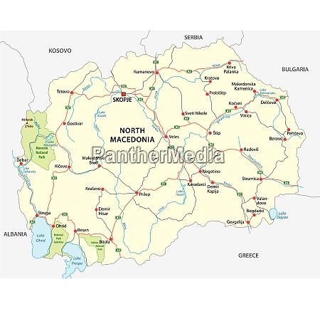 north macedonia road and national park