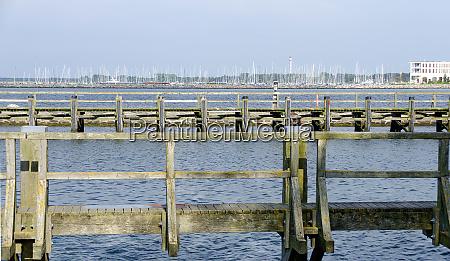 wooden jetties in the harbour of