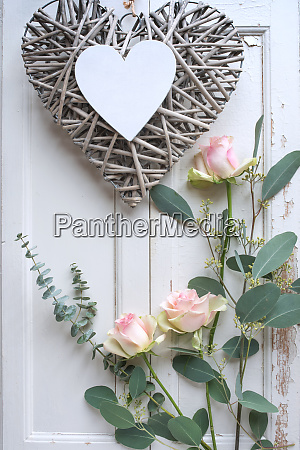 mothers day decoration on white vintage