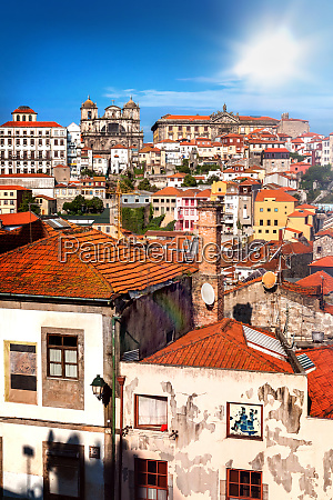 view of the old town ribeira
