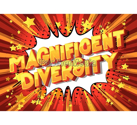 magnificent diversity comic book style