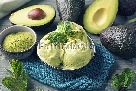 vegan avocado ice cream