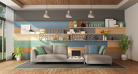 colorful living room of a modern