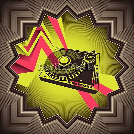designed, conceptual, banner, with, turntable - 26451081
