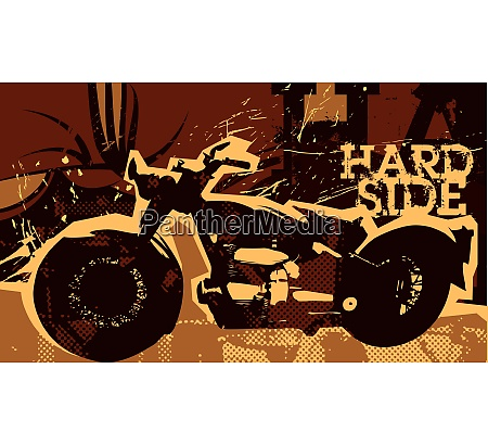 retro poster with motor bike