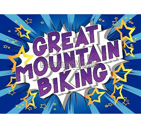 great mountain biking comic book