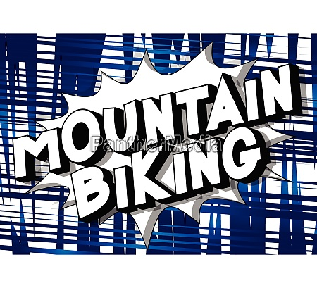 mountain biking comic book style