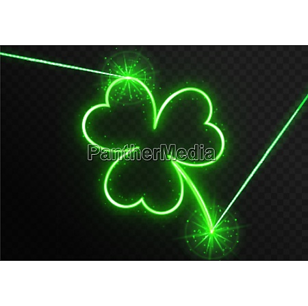 neon laser with clover