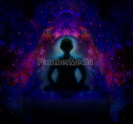 man meditate yoga