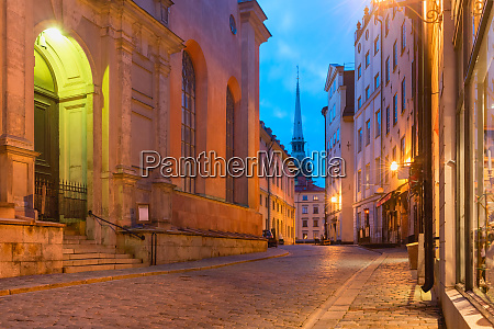 empty street in stockholm sweden