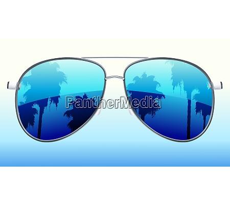 vector illustration of funky sunglasses