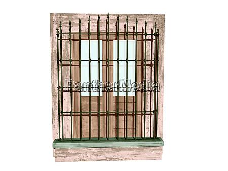 barred front door