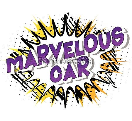 marvelous car comic book style