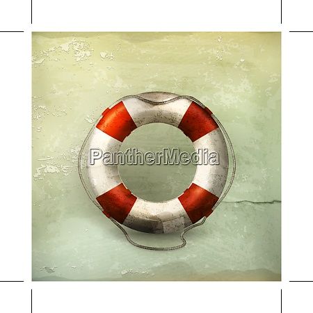 lifebuoy old style vector