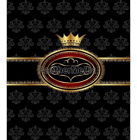 illustration vintage background with heraldic crown