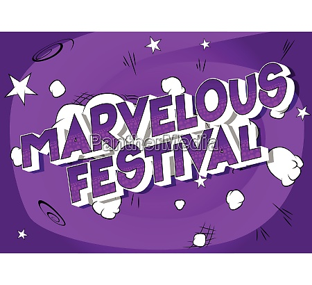 marvelous festival comic book style