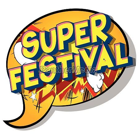 super festival comic book style