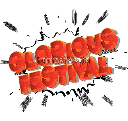 glorious, festival, -, comic, book, style - 26463831