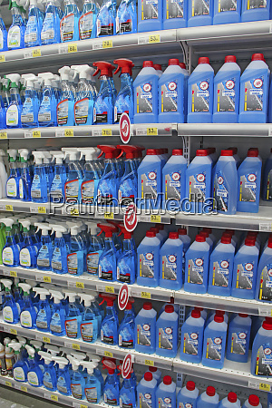 detergents for bath and kitchen shelves
