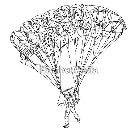 jumper black and white vector illustration