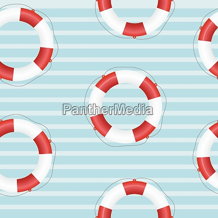 seamless texture of a life preserver
