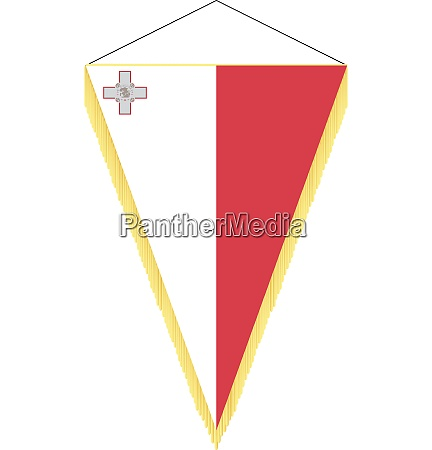 vector image of a pennant with
