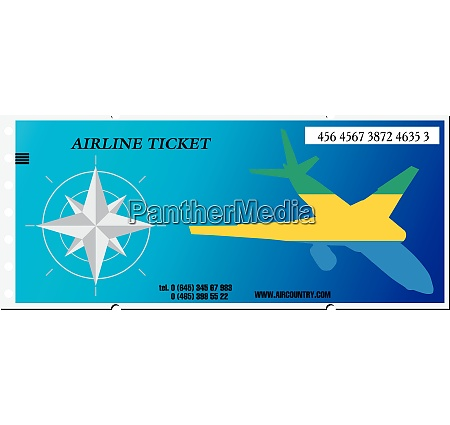 vector illustration ticket to gabon