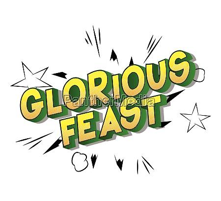 glorious, feast, -, comic, book, style - 26472368