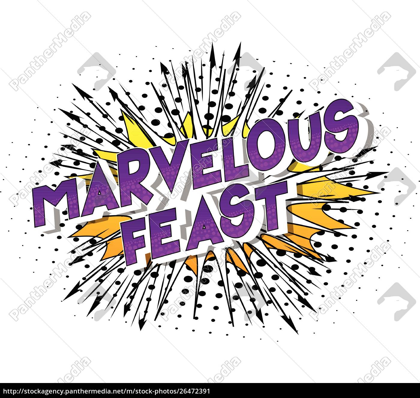 marvelous, feast, -, comic, book, style - 26472391