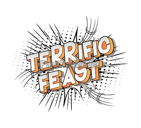 terrific, feast, -, comic, book, style - 26472396