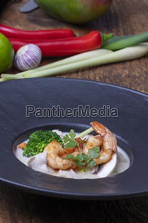 tom kha gai soup from thailand