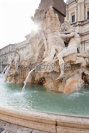 fontana dei quattro fiumi fountain architect