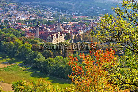 the town weikersheim in autumn