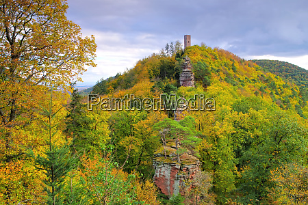 castle scharfenberg in palatinate forest in