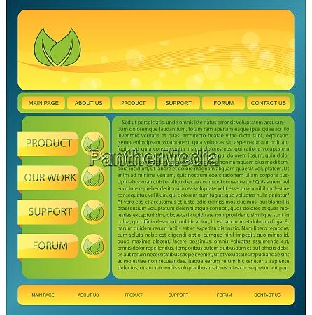 illustration eco friendly nature webdesign layout