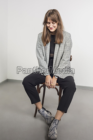 portrait of stylish woman with long
