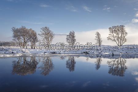a wintery scene on rannoch moor