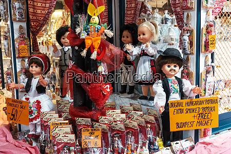 tourist shop selling paprika a major