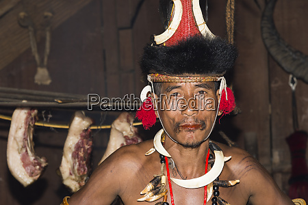 naga, tribal, man, in, traditional, outfit, - 26478596