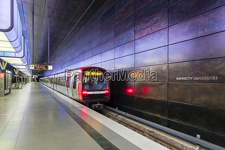 new, u-bahn, station, hafencity, universitat, on - 26478785