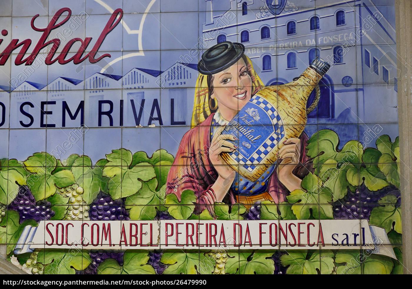 advertising, tiles, , porto, , portugal, , europe - 26479990