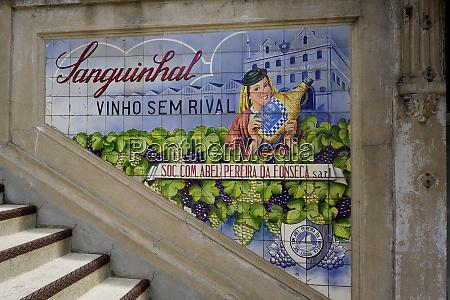 advertising, tiles, , porto, , portugal, , europe - 26479994