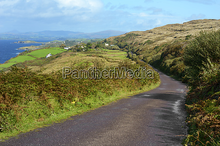 view from hillside road on the