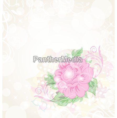 illustration abstract romantic celebration card with