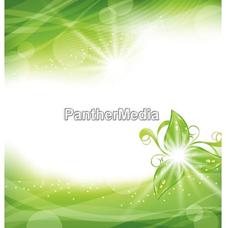 illustration eco friendly background with green