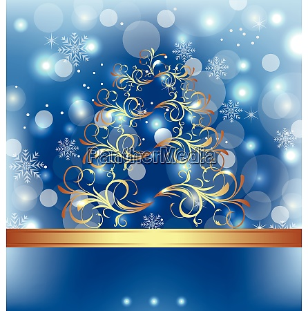 illustration celebration card with abstract christmas