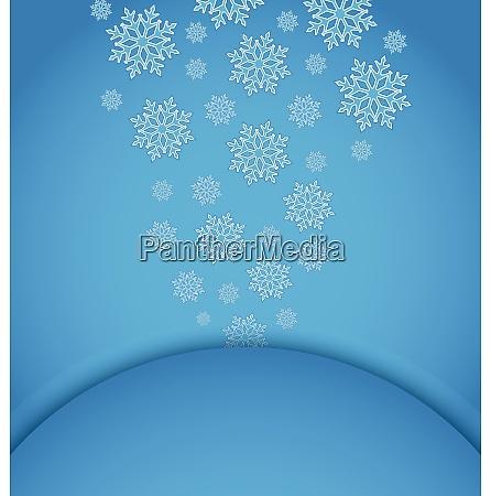 illustration christmas applique with set snowflakes