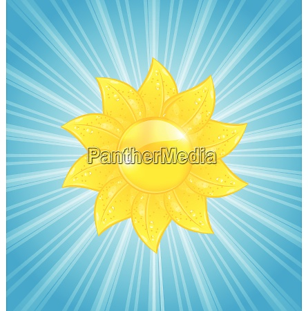 illustration abstract background with sun and